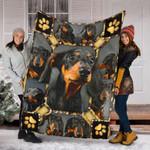 Custom Blanket Dachshund Black 3D Blanket - Fleece Blanket