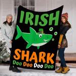 Custom Blanket St Patricks Day Irish Shark Blanket - Fleece Blanket