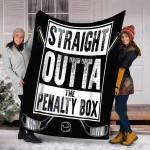 Custom Blanket Ice Hockey Blanket - Fleece Blanket