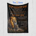 Custom Blanket Personalized Name Lion To My Daughter Blanket - Gift for Daughter