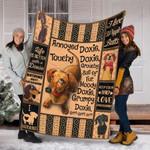 Custom Blanket Dachshund Dog Blanket - Fleece Blanket #14596
