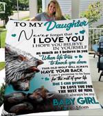 Custom Blanket To My Daughter Wolf Blanket - Gift For Daughter - Fleece Blanket #11938