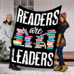 Custom Blanket Readers Are Leaders Books Blanket - Fleece Blanket
