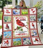Custom Blanket Cardinal To My Dad Blanket - Gift For Dad - Fleece Blanket
