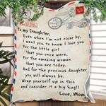 Custom Blanket Personalized Name Letter To My Daughter Blanket - Gift For Daughter #23674