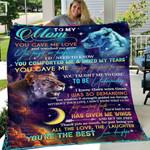Custom Blanket To My Mom Lion Th?n You Blanket - Gift For Mom - Fleece Blanket