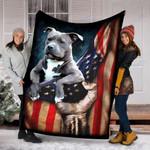 Custom Blanket Pitbull Lovers Blanket - Fleece Blanket