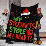 Custom Blanket Christmas My Students Stole My Heart Blanket - Fleece Blanket