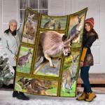 Custom Blanket Kangaroo 3D Blanket - Fleece Blanket