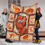 Custom Blanket Fox Love Blanket - Fleece Blanket
