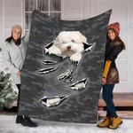 Custom Blanket Coton De Tulear Dog  Blanket - Fleece Blanket