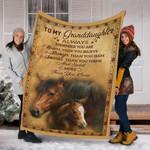 Custom Blanket Horse To My Granddaughter Blanket - Fleece Blanket