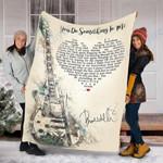 Custom Blanket You Do Somethinng To Me Blanket - Fleece Blanket