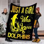 Custom Blanket Dolphins Blanket - Perfect Gifts For Girls - Fleece Blanket
