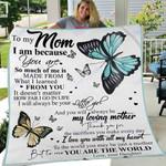 Custom Blanket To My Mom Blanket - Gift For Mom - Fleece Blanket #16871