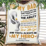 Custom Blanket To My Dad Blanket - Gift For Dad - Fleece Blanket