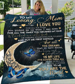Custom Blanket To My Loving Mom Blanket - Gift For Mom - Fleece Blanket #56110