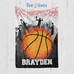 Custom Blanket Basketball Personalized Gifts Blanket - Fleece Blanket