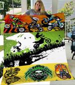 Custom Blanket Motocross Blanket - Fleece Blanket