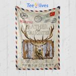 Custom Blanket Personalized Letter Father and Daughter Hunting Buddies For Life Blanket - Gift for Daughter