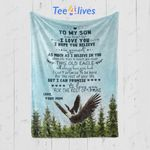 Custom Blanket Personalized Name Eagle To My Son Blanket - Gift for Son #75446