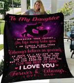 Custom Blanket To My Daughter Blanket - Gift For Daughter