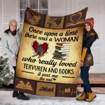 Custom Blanket Tervuren Dog And Books Blanket - Fleece Blanket