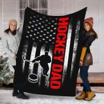 Custom Blanket Hockey Blanket - Perfect Gift For Dad - Fleece Blanket
