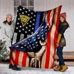Custom Blanket West Virginia State Police Blanket - Fleece Blanket