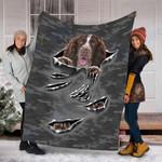 Custom Blanket English Springer Spaniel Dog Blanket - Fleece Blanket