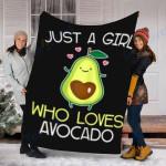 Custom Blanket Avocado Blanket - Perfect Gift For Girls - Fleece Blanket