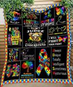 Custom Quilt Blanket Autism Awareness Blanket - Quilt Blanket #56669