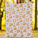 Custom Blankets Shiba Inu Dog Blanket - Fleece Blanket