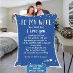 Custom Blankets Personalized Blanket - Perfect gift for Wife - Fleece Blanket