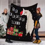 Custom Blanket Llama Christmas Blanket - Fleece Blanket