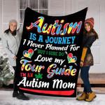Custom Blanket Autism Mom Autism Awareness Blanket - Fleece Blanket