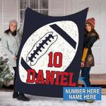 Custom Blankets Football Personalized Blanket - Fleece Blanket #51693