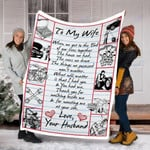 Mechanics Custom Blanket To My Wife Blanket - Gift For Wife - Fleece Blanket