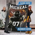 Custom Blankets Football Personalized Blanket - Fleece Blanket #21105