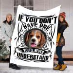 Customs Blanket Beagle Dog Blanket - Fleece Blanket #92951