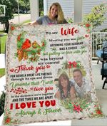 Custom Photo Blanket Personalized To My Wife Blanket - Gift For Wife - Quilt Blanket
