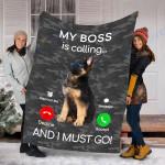 Customs Blanket German Shepherd Dog Puppy Dog Blanket - Fleece Blanket