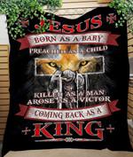 Custom Blanket JESUS KING Quilt Blanket - Quilt Blanket