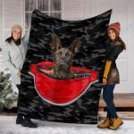 Custom Blanket Dutch Shepherd Dog Blanket - Fleece Blanket