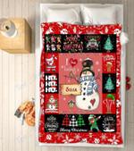 Custom Blankets - Sissa Snowman Christmas Blanket - Fleece Blankets