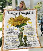 Custom Blankets To My Daughter Blanket - Gift for Daughter - Quilt Blanket