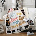 Custom Blankets Yorkie Dog Blanket - Fleece Blanket
