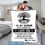 Custom Blankets To My Husband Personalized Blanket - Perfect Gift For Husband 6 - Fleece Blanket