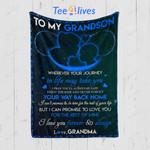 Custom Quilt Blanket To My Grandson Blanket - Quilt Blanket #95954