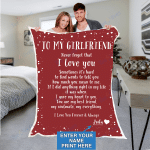 Custom Blankets Personalized Blanket - Perfect gift for Girlfriend - Sherpa Blanket #51155